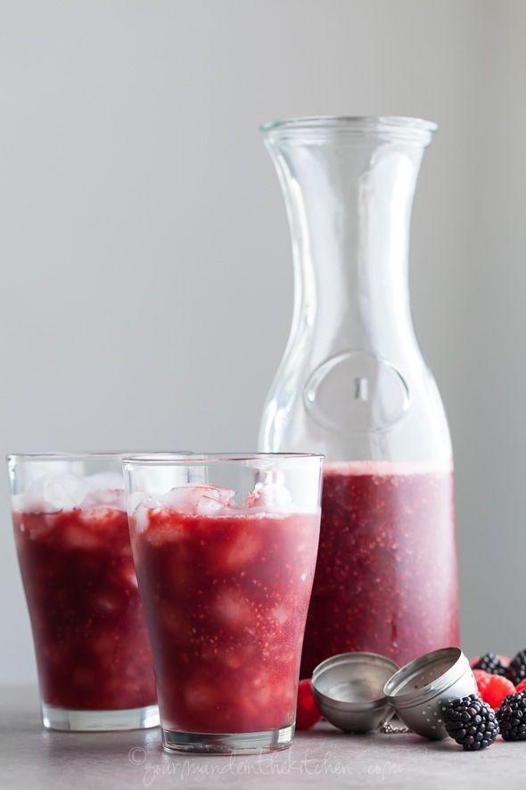 Berry rosehip chia agua fresca