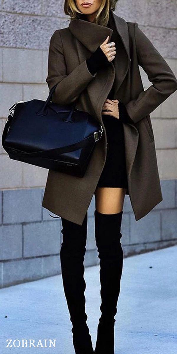 Casual Big Lapel Pure Color Overcoat