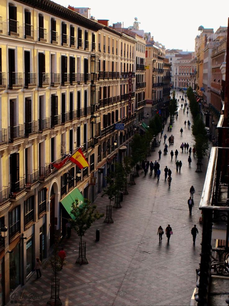 Streets of Madrid, early in the morning.