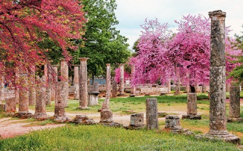 Ancient Olympia, is known for having been the site of the Olympic Games in classical times, the most famous games in history.The Olympic Games were held every four years.The first Olympic Games were in honor of Zeus.