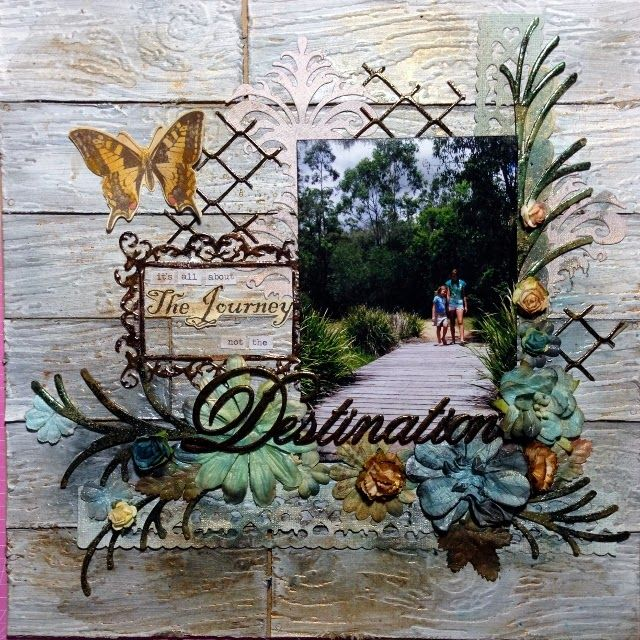 Couture Creations: Adore 2 layouts with Tina Connolly | #couturecreationaus #decorativedies #ornamentallacedies #mixedmedia #scrapbooking