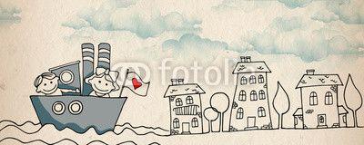 Quadro Couple in love - ship #stampasutela #stampa su #tela #regalaunquadro  #quadri per #cameradaibambini #plexiglassi #panello #bordato #panellobordato #quadri per #camera dai #bambini Codice art.: 54117793