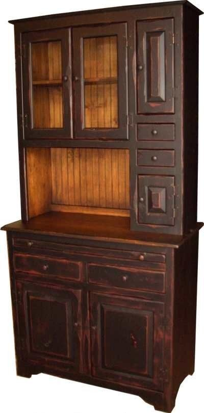 Primitive Hoosier Cabinets for Sale | Amish Handcrafted Medium Hoosier Hutch