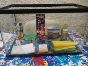 Complete kit for growing Spirulina in a fishtank. Kit completo con pecera. En Mexico viene con nuestro manual, DVD, semilla y lo que necesitas para cultivar. Info@SpirulinaViva.org