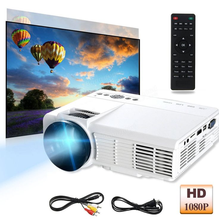 3D HD 1080P 3000Lumen Home Theater Multimedia PC VGA USB HDMI LED Projector