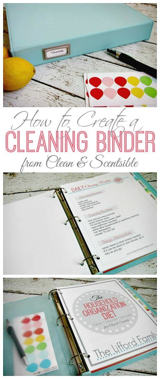 Everything you need to create a cleaning binder.