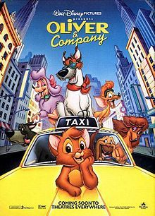 #27 - Oliver and Company. Another childhood love! Sweet and uplifting, and who doesn't love movies set in New York?!
