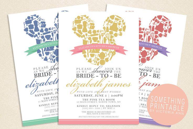 Love these!! Kit - Printable Kitchen/Bridal Shower Invitation Design. $10.00, via Etsy.