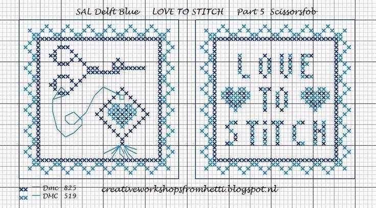 Inmiddels zijn we al bij deel 5 van de SAL aangekomen.  De hartjes verbeelden onze liefde voor borduren en de meesten van ons zijn gek op de...