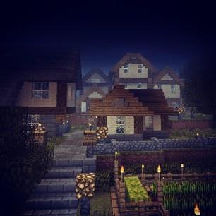 Underground Village #minecraft http://www.veterancraft.net