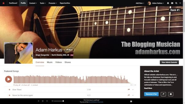 For a more focused look into my music, please visit me on Reverbnation. Source: adamharkus.com