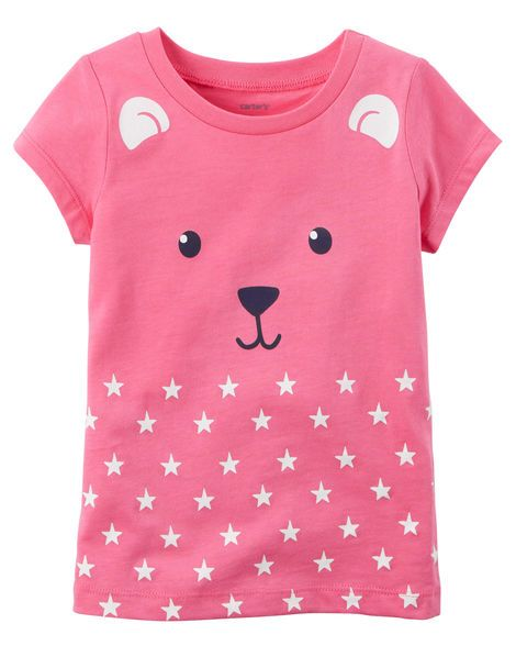 Toddler Girl Bear Graphic Tee from Carters.com. Shop clothing & accessories from a trusted name in kids, toddlers, and baby clothes.