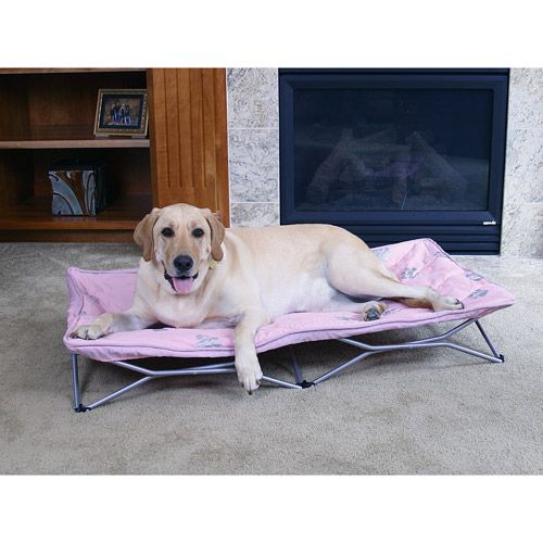 Carlson Pet Products Large Portable Pup Dog Bed Pink