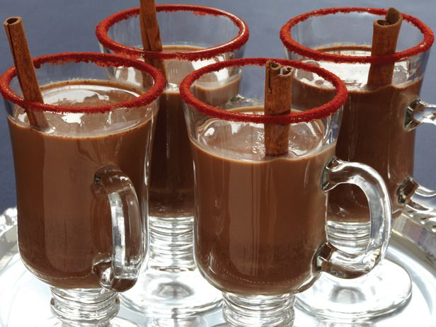 Mexicocoa:  Warm up with this festive hot chocolate spiked with tequila and a pinch of chili powder.