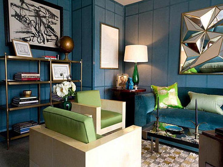 Color Schemes For Blue Home Decoration Modern Living Room