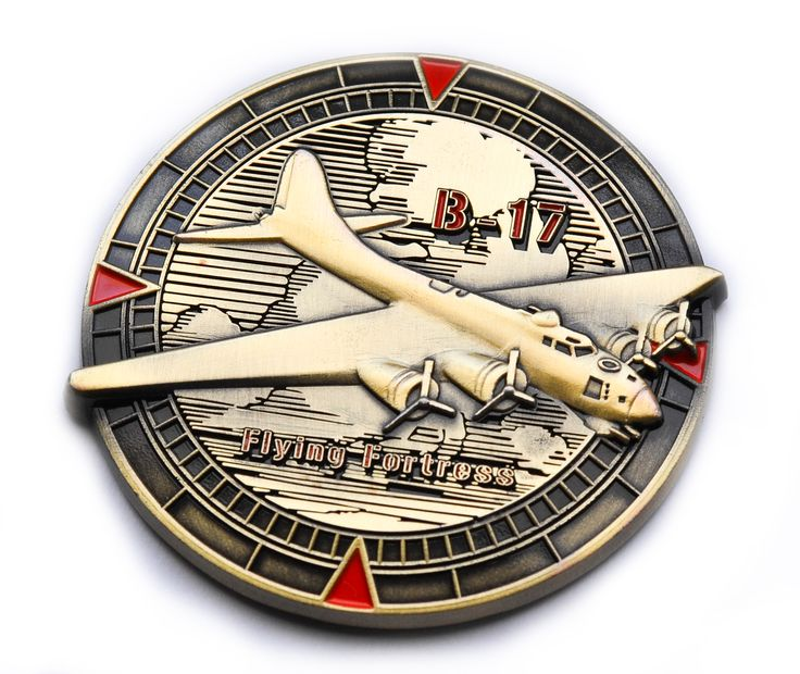Antique gold - limited version of Flying Fortress Geocoin www.geocoin4you.com