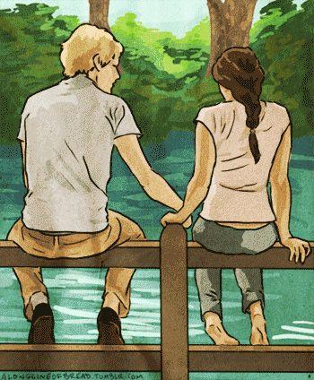"""""""Peeta and I grow back together."""" (Mockingjay)"""