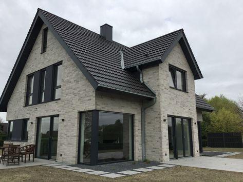 Brick / clinker facing brick K410-NF / clinker / facade / gray white nuanced