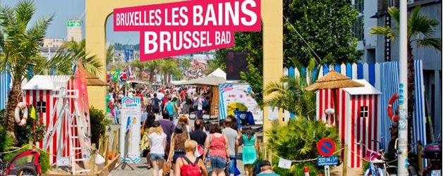 Brussel bad - elke zomer wordt de haven van Brussel  omgevormd tot een strand. Daar vind je strandhutjes met drankjes en gerechten, sport, cultuur, kunst en ontspanning.