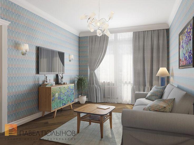 Фото: Интерьер комнаты для гостей - Двухуровневая квартира в неоклассическом стиле, ЖК «Жилой дом на Пионерской», 208 кв.м.