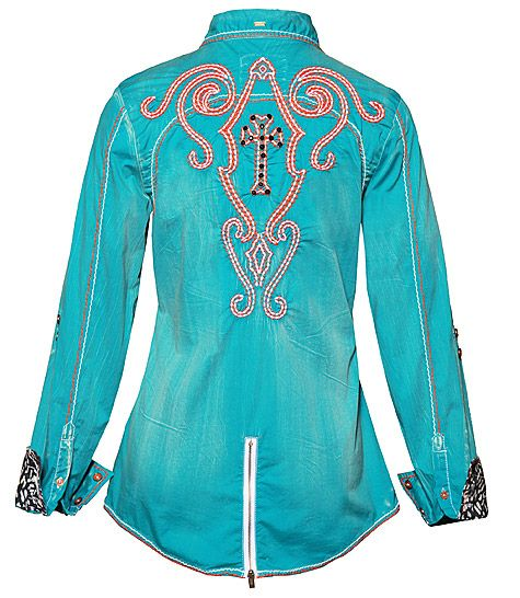 STARY EYED - TURQUOISE- Shirts- Roar Clothing