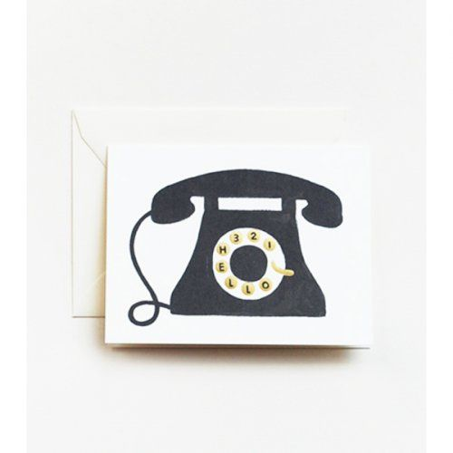 Folded Note Cards – Hello Telephone – Set of 8