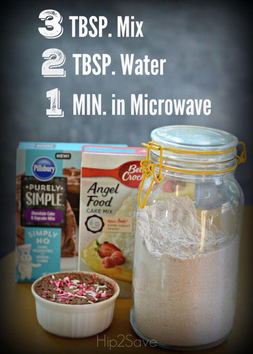 3-2-1 Microwave Mug Cake Recipe | Mug cakes, Mugs and Cakes