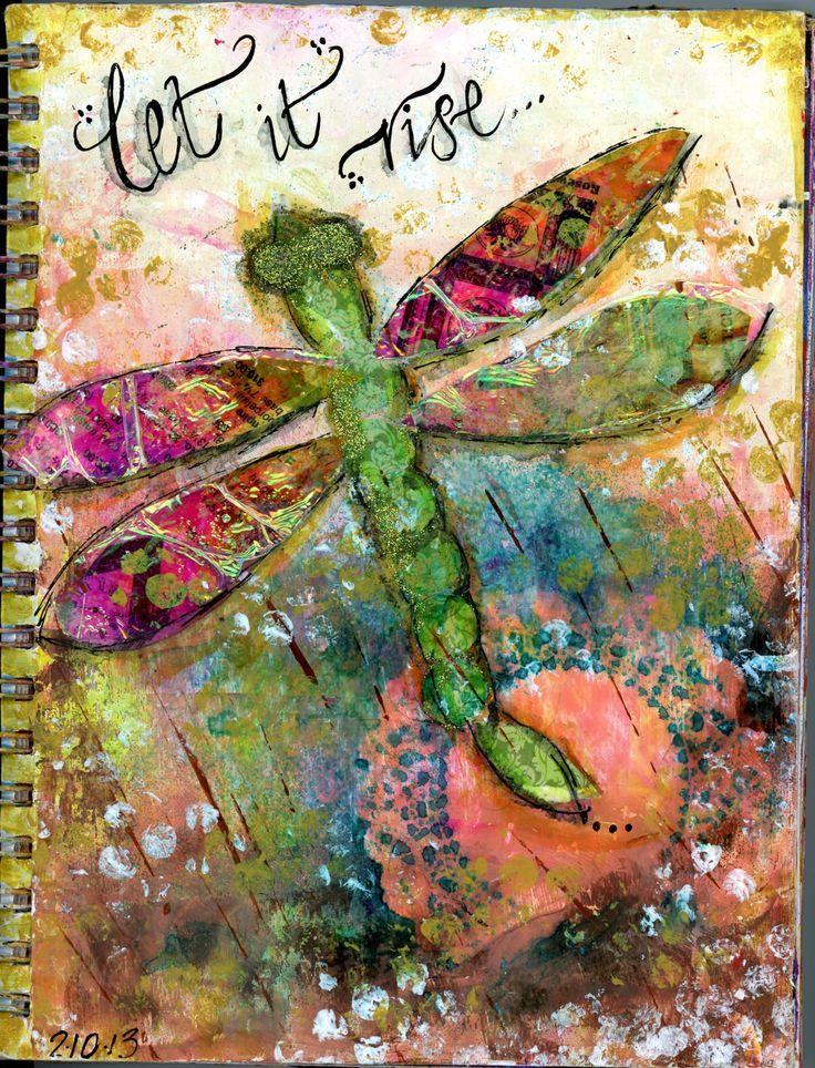 Mixed Media and Calligraphy Art Journal Cover - BananaCurlGirl.com