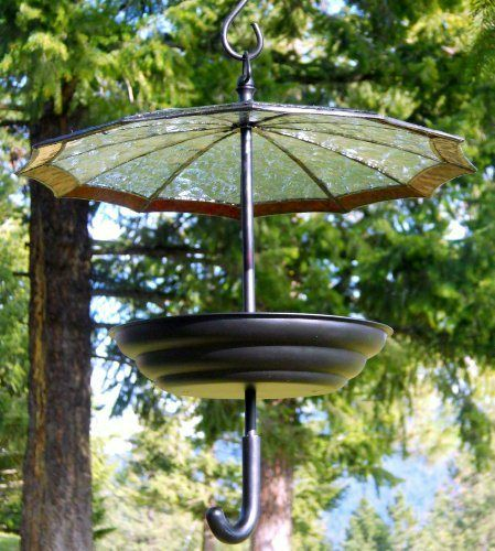 Patio Umbrella Flying Away: Buy H Potter Glass Umbrella Bird Feeder Big Discount