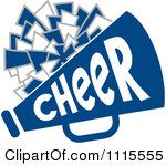 101 best clip art sports cheer images on pinterest hs sports clipart cheerleader pom pom and megaphone in blue tones royalty free vector illustration thecheapjerseys Gallery