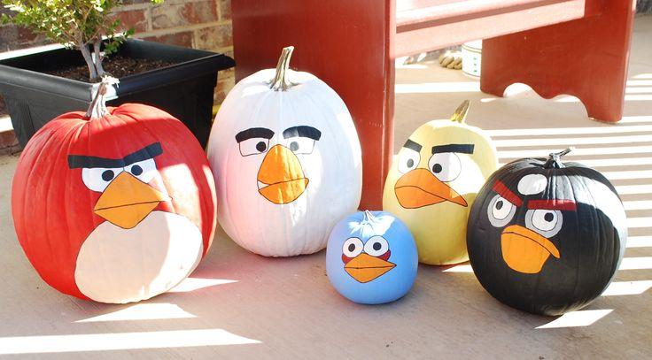 diy burlap pumpkin | angry bird pumpkins 004 — Creations by Kara