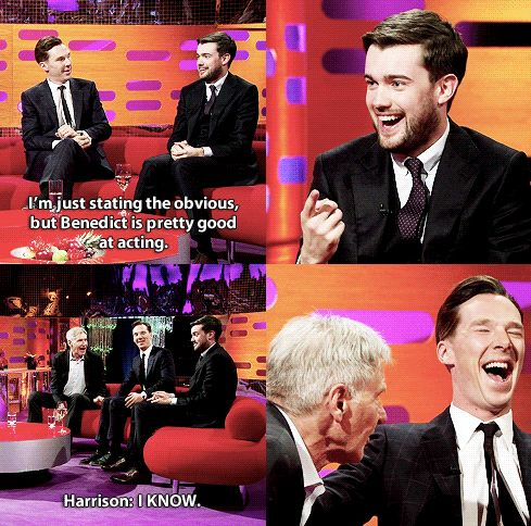 So amazing for Benedict, his childhood hero complimenting him like that.