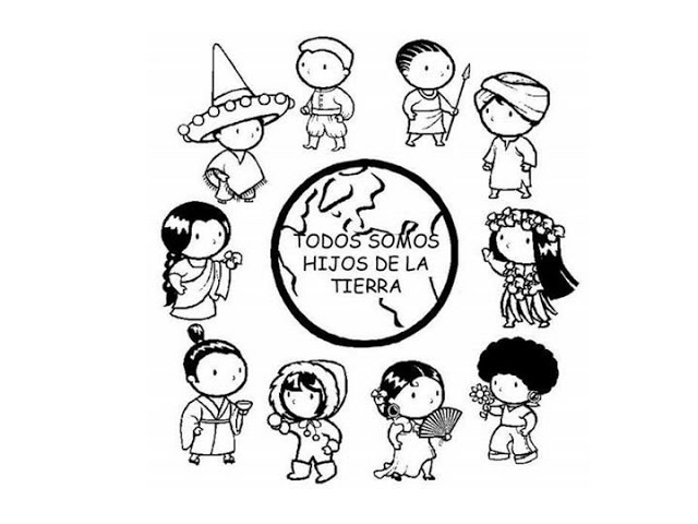 Children of the World - free coloring page►