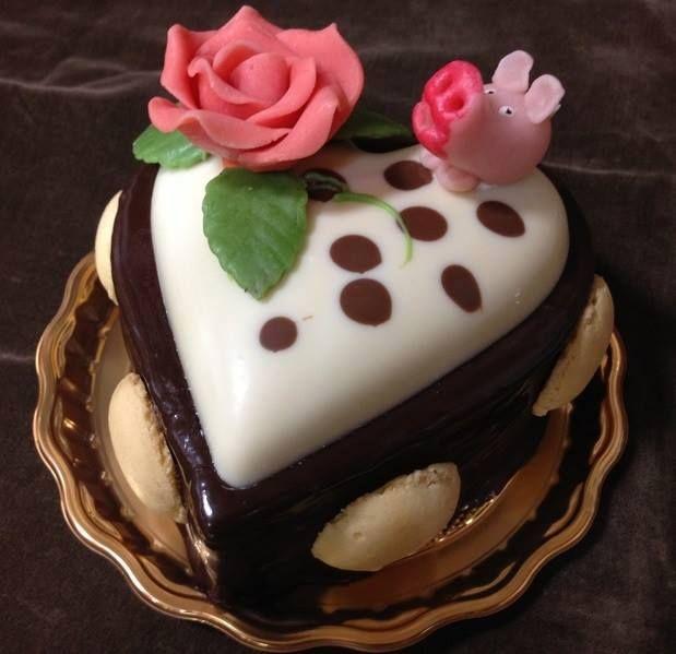 Καρδούλα σοκολάτα-βανίλια !!!