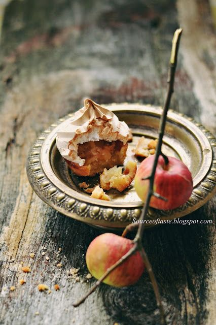 Cinnamon Apple Meringue tartlets