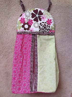 Cocalo Baby Taffy Diaper Stacker Hanger Holder Pink Brown Green Floral