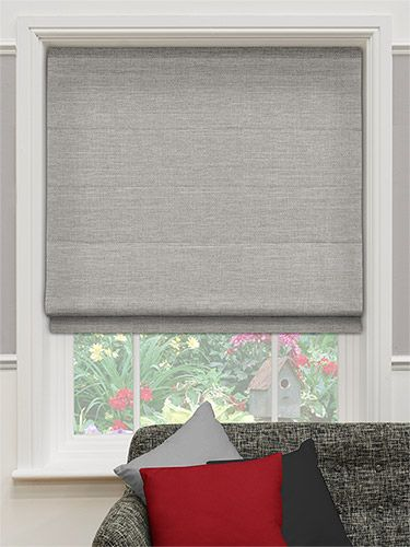 Harrow Mid Grey Roman Blind from Blinds 2go