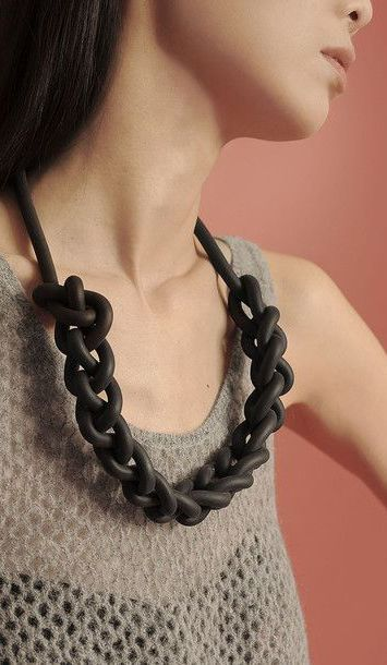Rubber Chain Necklace by alienina #wearabledesign