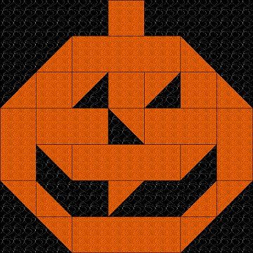 Pumpkin Block -- use #AccuQuilt dies to cut the shapes for this project at www.accuquilt.com! #halloween