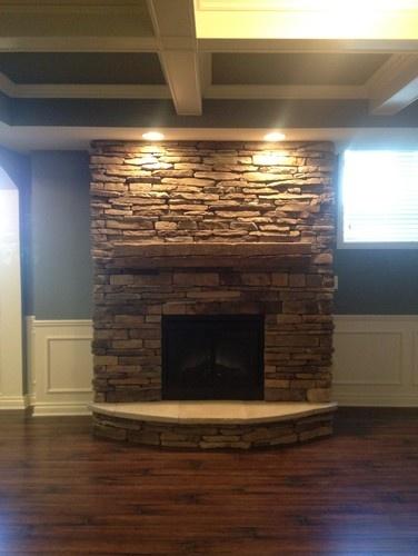finish basements paint colors basements ideas stone fireplaces