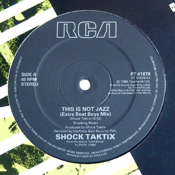 Edizione originale 1988. No ristampa.<br />Lato A: This Is Not Jazz (Extra Beat Boys Mix)<br />Lato B: Time Beat Time<br />Copertina e Vinile perfetti. Mint<br />Stampato in U.K.<br /><br />Electronic Synth pop [9,90 €]
