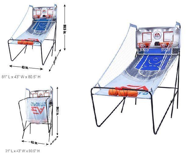 Indoor Basketball Arcade Game Double Electronic Hoops Shot 2 Player With Balls  #IndoorBasketballArcade