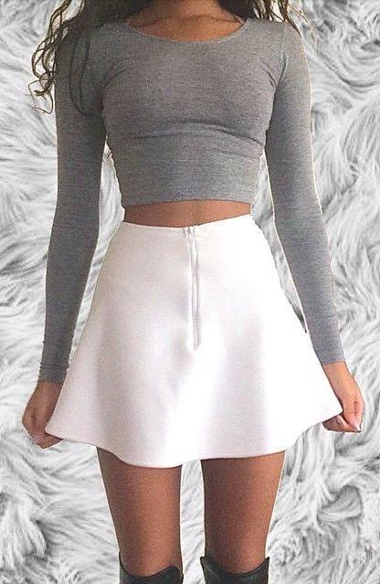 crop tops + skater skirts #aliceandolivia
