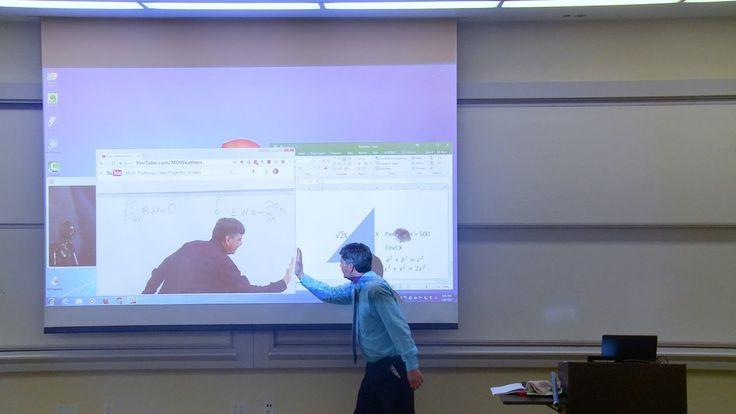 Math Professor Fixes Projector Screen (April Fools Prank)