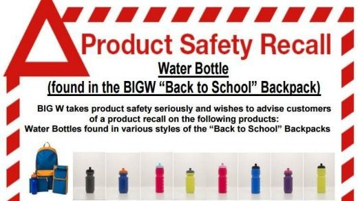 Big W is asking anyone who purchased their back to school water bottles contained in eight types of four-piece backpack bundles sold across Australia since December 21.  Big W have said that they tested their bottles after a customer complaint and …