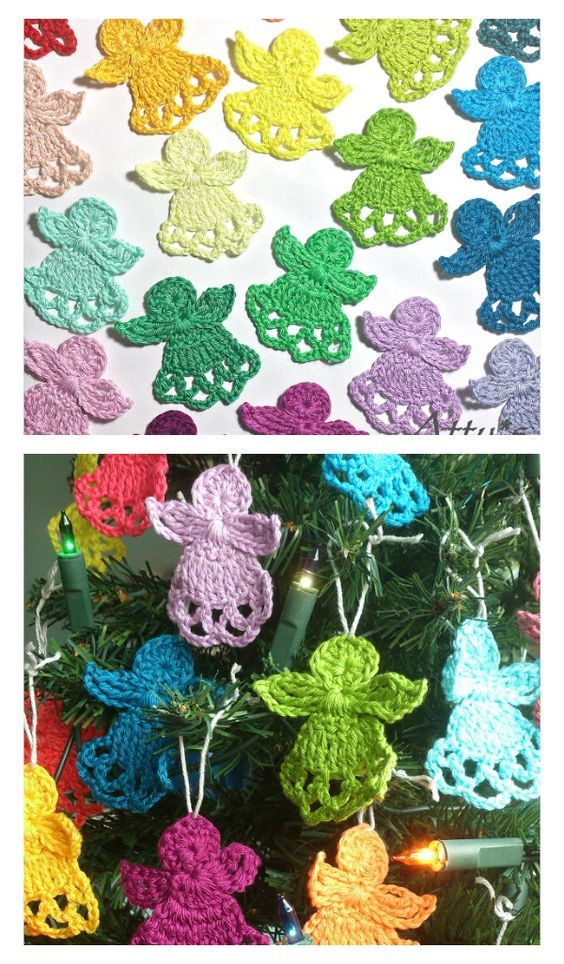 Crochet Christmas Angels Free Pattern