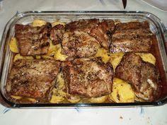 COCINA SIN TONTERIAS: Costillas de cerdo al horno con patatas panadera