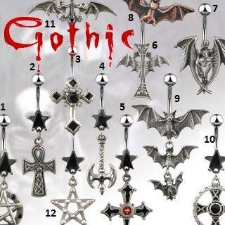 Gotiske smykker fra Piercingpusher