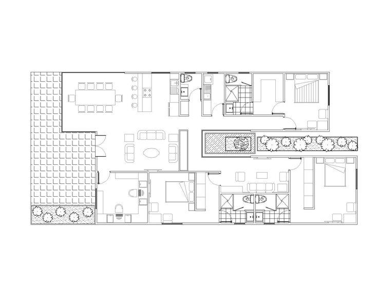 Galicia proyecto de vivienda unifamiliar exenta de 150m2 con sistema de geotermia, placas de energia solar termica, suelo radiante y envolvente de termoarcilla con clasificacion energetica B
