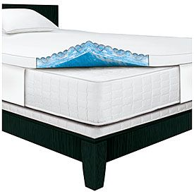 "View Serta Rest 3"" Queen Gel Memory Foam Mattress Topper Deals at Big Lots"